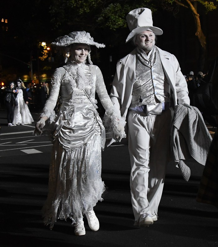 Ghostly presence in the Village Halloween Parade © 2016 Karen Rubin/goingplacesfarandnear.com