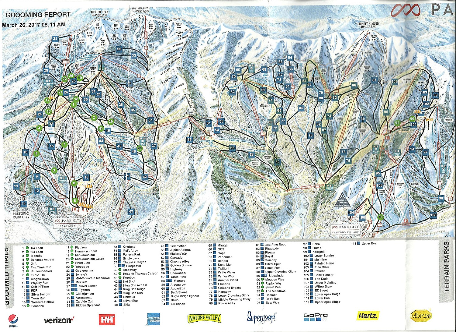 Park City Mountain Utah Biggest Ski Area In US Is One Of Easiest - Park city map
