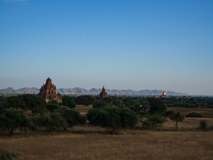 Bagan temple fields