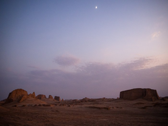 Nightfall in the Lut Desert