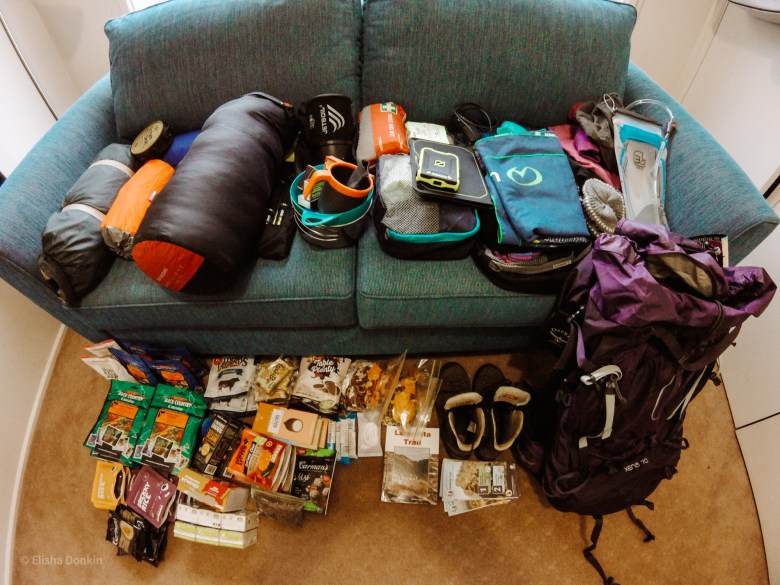 packing for overnight hike