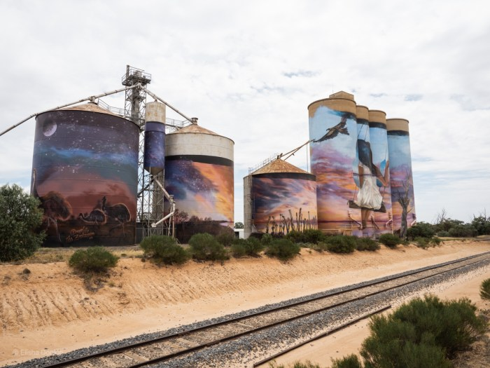 Sea lake silo art