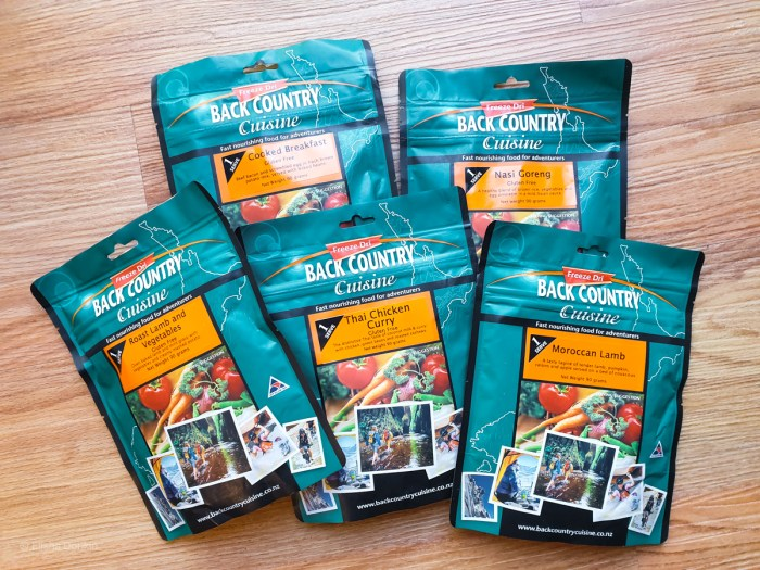 Back Country dehydrated meals