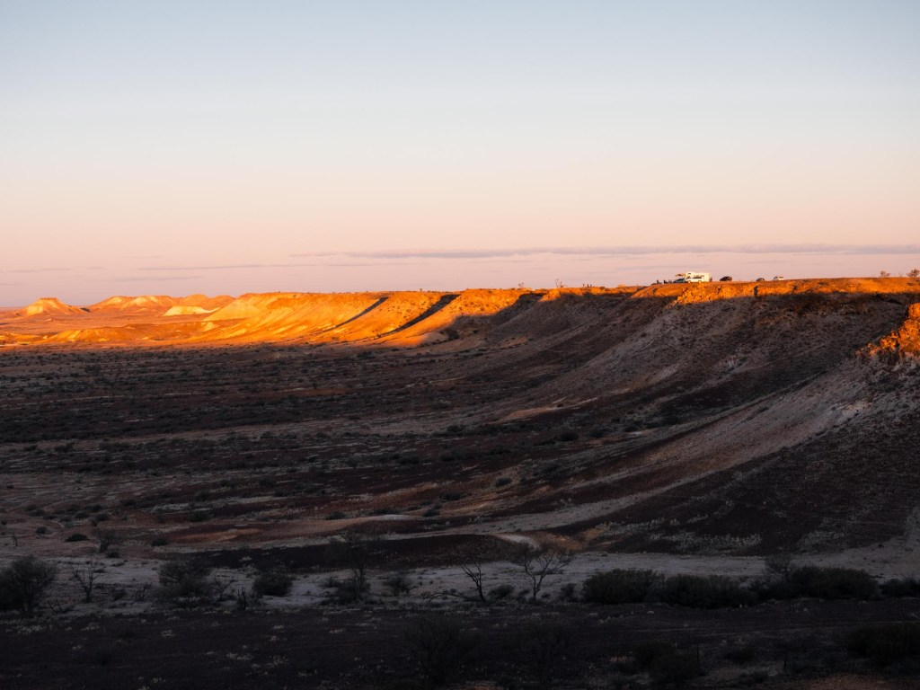 Sunset viewpoint at the Breakaways