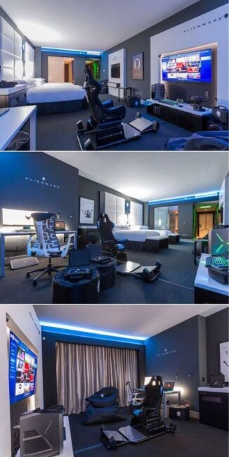 extensive gaming area