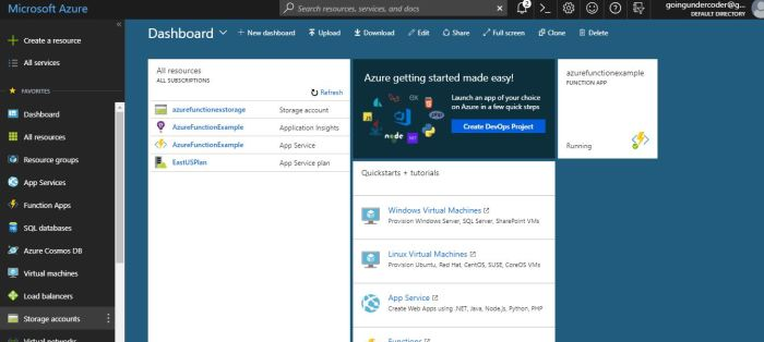 Azure Functions Tutorial Portal
