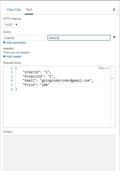 Azure Functions Coding Testing