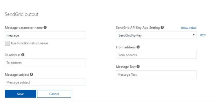 Azure Functions Tutorial Configure Email Output