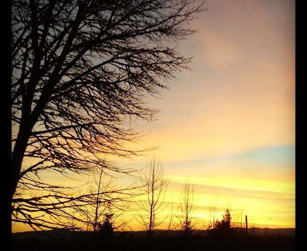 February 1…sunset in Portland