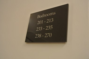 Love that they are called Bedrooms instead of Hotel Rooms