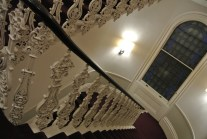 Amazing staircases throughout the hotel - looking down