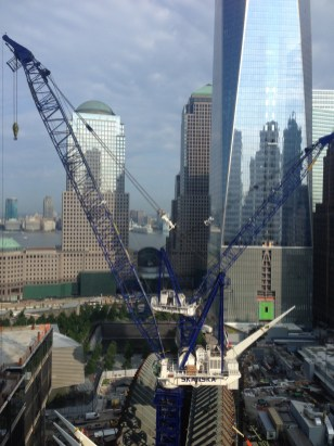 Ongoing construction at the World Trade Center site - view from my hotel room