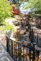 The relaxing sound of the waterfall adds to the appeal of the garden