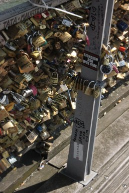 Love Locks on Passerelle Léopold-Sédar-Senghor