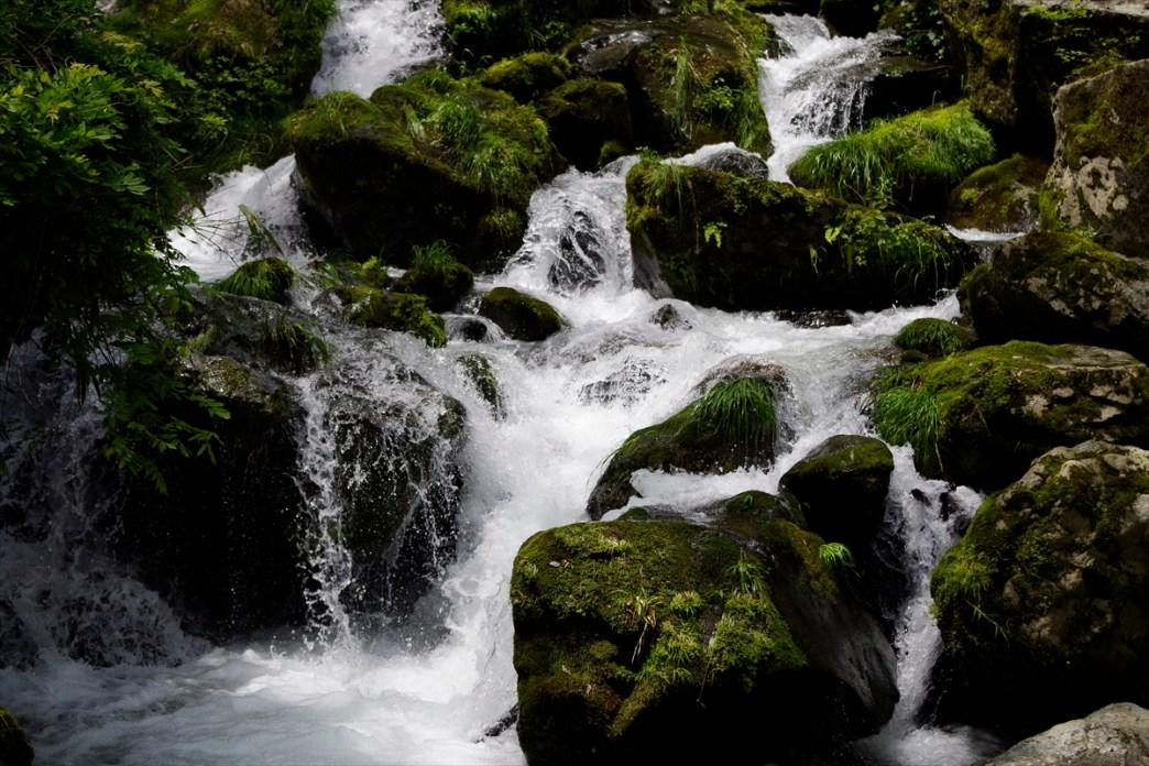 Water flows through beautiful rocks of Sendan-Todoro