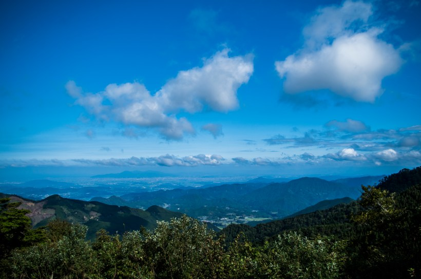 Overlooking the whole Kumamoto Plains at Nihon-sugi Pass
