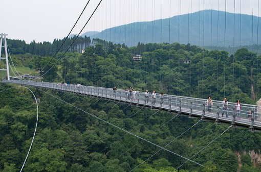 Kuju Yume Otsuri-bashi suspension bridge, Kuju