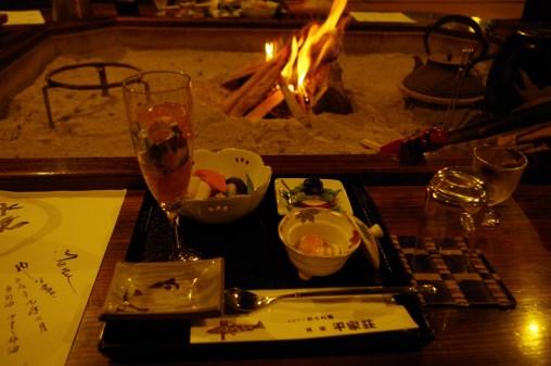 Beginning of dinner at Heike-so