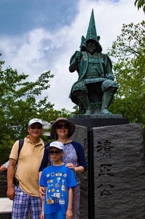 Statue of Lord Kato Kiyomasa, Kumamoto city