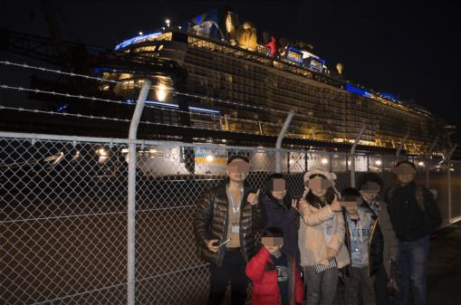 Cruise ship at Yatsushiro port