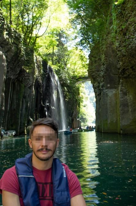 Rowboat around Manai waterfall