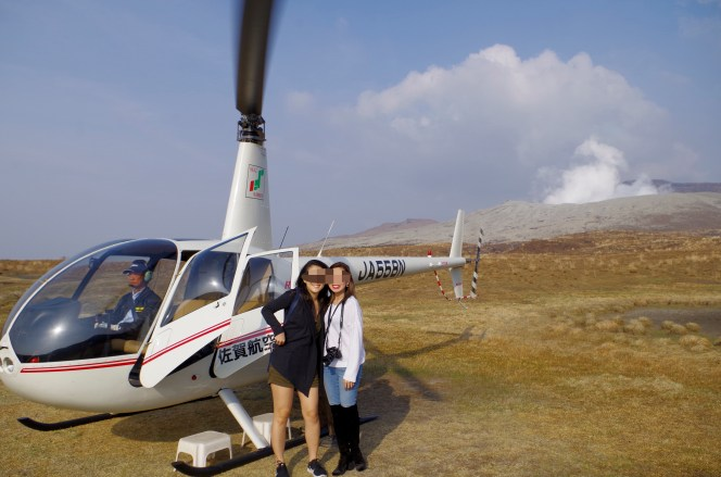 After helicopter flight