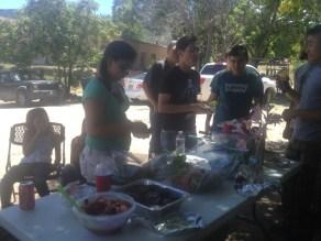 Celebratory lunch on last day.