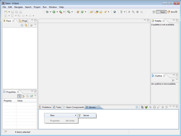 Defining a new server in Eclipse