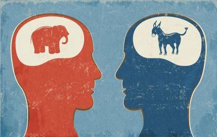 Yurtdışı seçimlerinde (A.B.D.) Partizanlık görseli