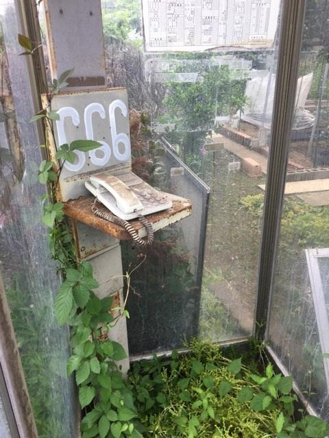多摩全生園の電話ボックス