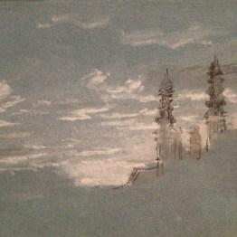 """""""Wolkenstudien"""" by Johann Georg Von Dillis"""