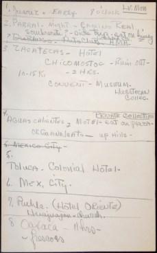 Mexico Itinerary