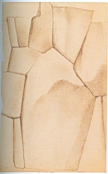 Untitled (Sacsayhuamán), 1956 Georgia O'Keeffe 7 x 4 ¾ (17.8 x 12.1) Private Collection