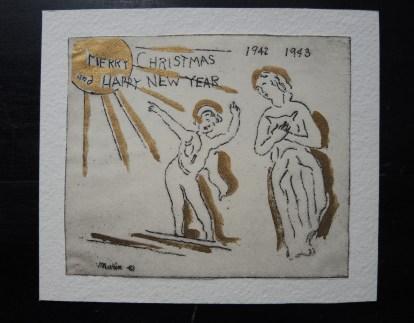 Christmas card, 1942.