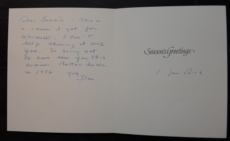 Holiday card from Dan Rich, 1976.
