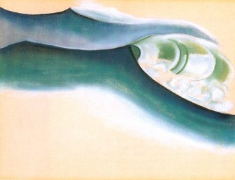 Wave, 1922 Georgia O'Keeffe Pastel on paper 19 x 25 in. Private collection © Georgia O'Keeffe Museum