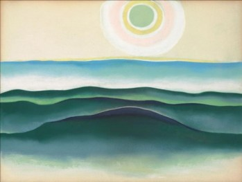 Sun Water Maine, 1922 Georgia O'Keeffe Pastel 20 1/2 x 26 3/4 in. Private collection © Georgia O'Keeffe Museum
