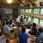 日高村の地質についての研修会