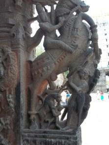 Sculpture on pillar