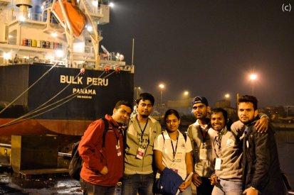 At Vizag Port, PC: Charen