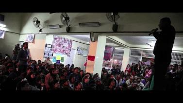 Anshu Gupta addressing us. © Jagriti Yatra
