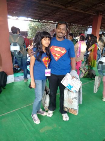 With Super Woman Pooja :p
