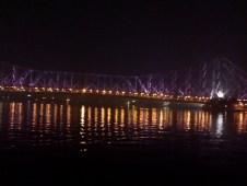Howrah Bridge beaming at night