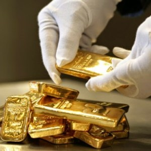 Gold Bars Bullion Hands White Gloves