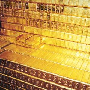Gold Bullion Bars Vault