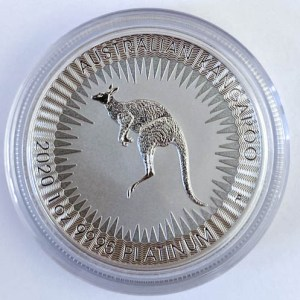 1 Oz Platinmünze Kangaroo Kanguru Australien Vorne