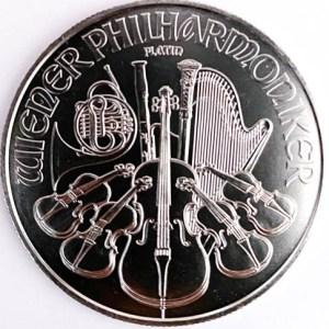 1 Oz Platinmünze Wiener Philharmoniker Vorne