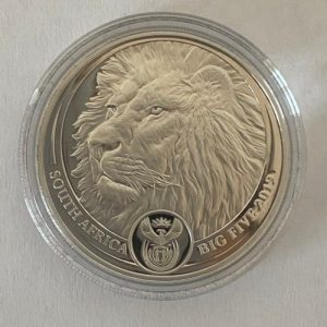 1 Oz Platin Big Five Lion Löwe South Africa 1 Oz Platinmünze Vorne