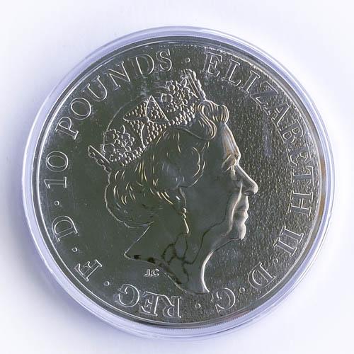 Queens Beasts Lion of England 2017 10 oz Silber Münze 311g Silber