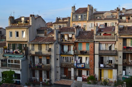 View from our Marseille apartment